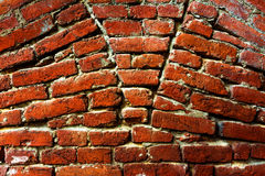 Red Brick Wall. Vivid red brick wall texture Royalty Free Stock Photo