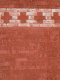 Red Brick wall with whitewashed bricks Royalty Free Stock Images