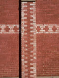 Red brick wall with whitewashed pattern. Stock Image