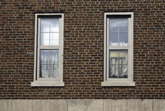 Red Brick Wall with Windows Stock Photos