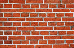 Red Brick Wall With Gray Cement Pattern Royalty Free Stock Photography