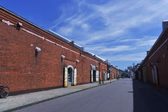 The red brick warehouse group into large shopping malls Royalty Free Stock Photos