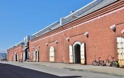 Red Brick Warehouses at Hakodate, Japan. Stock Images