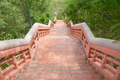 Red brick way Royalty Free Stock Image