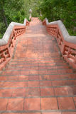 Red brick way. To field, Nakhonsawan, Thailand Royalty Free Stock Photography