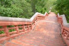 Red brick way. To field, Nakhonsawan, Thailand Stock Image