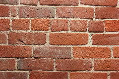 Red brick. With white grout wall for background Royalty Free Stock Photo