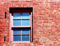Red Brick Window Stock Photography