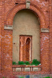 Red brick windows Royalty Free Stock Photography
