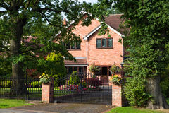Red bricked family house Royalty Free Stock Image