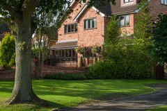 Red bricked family house Stock Image