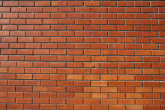 Red Bricked Wall. Perspective detail stock photo