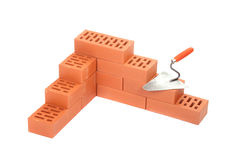 Red bricks Stock Images