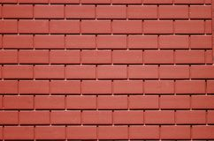 Red Bricks. A photo taken on a red concrete bricks wall Stock Photography
