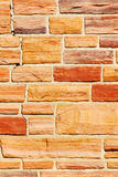 Red bricks. Cracked wall made from old red bricks Stock Photos