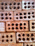 Red bricks. Red brick wall, red brick ,Stack of old red bricks Royalty Free Stock Photography