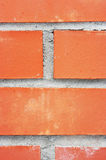 Red bricks. Photographed close up Stock Image