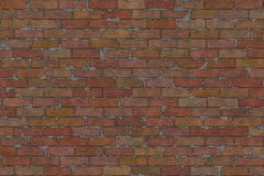 Red bricks. Wall of red brick and cement texture Stock Image