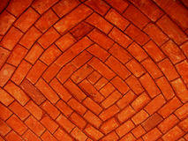 Red bricks. Red brick vaulting royalty free stock photos