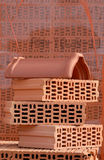 Red bricks arrangement Stock Photos
