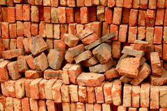 Red bricks background Royalty Free Stock Image