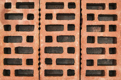 Red bricks. Background close up Royalty Free Stock Images