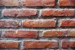 Bricks background in horizontal  layout. Red bricks background in horizontal layout images Stock Photos