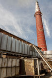 Red bricks chimney Stock Images