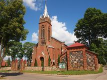 Red bricks church Royalty Free Stock Photography