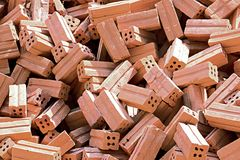 Red bricks for construction Royalty Free Stock Photo