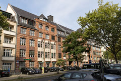 Red bricks house in Berlin royalty free stock images