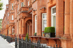 Red bricks houses in London, english architecture Stock Images