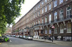Red bricks houses near Palace of Westminster in  London, english architecture Royalty Free Stock Images