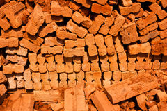 Red bricks for its construction. Royalty Free Stock Photo