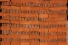 Red bricks for its construction. Royalty Free Stock Photos