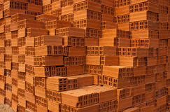 Red bricks for its construction. Royalty Free Stock Images