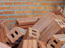 Red bricks material of construstion Stock Images