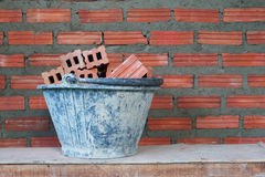 Red bricks material of construstion Royalty Free Stock Image
