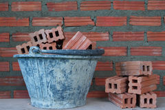 Red bricks material of construstion Stock Photos