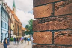 Red bricks in the old town of Riga Royalty Free Stock Images
