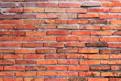 Red bricks. Old red bricks wall in the old house Royalty Free Stock Photos