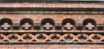 Red bricks ornaments Stock Photography