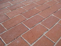 Red bricks pavement Royalty Free Stock Images