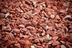Red bricks pieces abstract background photograph stock image