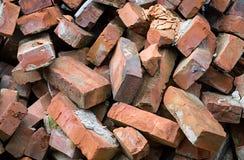 Red bricks pile Stock Photos