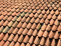 Red bricks roof Royalty Free Stock Photos