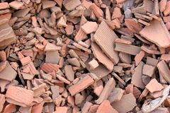 Free Red Bricks Rubble Stock Image - 1382121