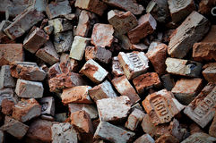Red Bricks. Some broken bricks at construction site Royalty Free Stock Image
