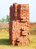 Red Bricks Stack. Traditional Red Bricks Stack near a Construction Site in Punjab, Pakistan Royalty Free Stock Images