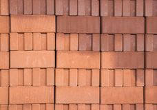 The Red Bricks Stack royalty free stock images